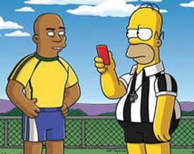 Homer Simpson with Ronaldo