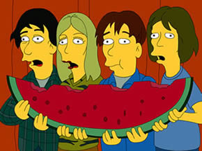 Sonic Youth The Simpsons Homerpalooza
